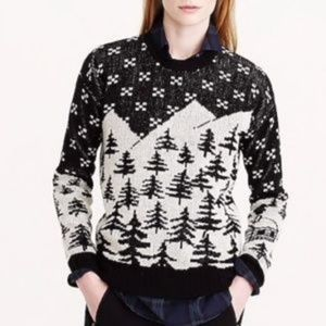 J. Crew Cabin Patterned Wool Holiday Sweater small